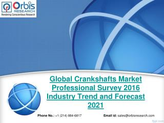 2016 Crankshafts Market Professional Survey Globally