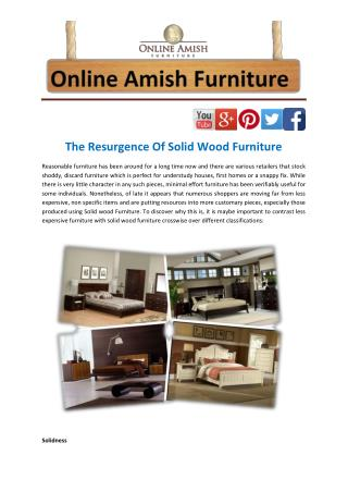 The Resurgence Of Solid Wood Furniture