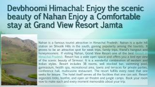 Resort in Himachal Pradesh