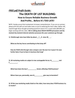 The Death of List Building in 2016