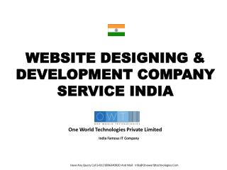 Website Designing and development company service from india