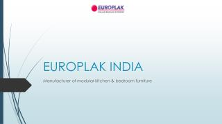 Europlak India - modular kitchen