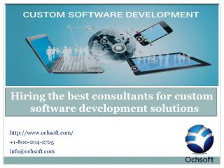 Hiring the best consultants for custom software development solutions