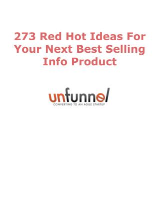 273 Info Product Ideas For 2016