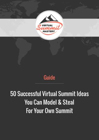 50 successful virtual summit ideas