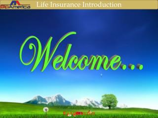 Life Insurance Introduction