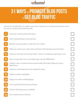 30  Ways To Promote A Blog Post in 2016