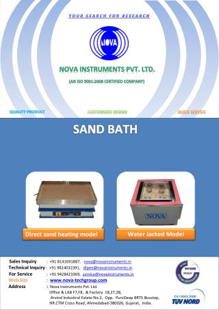 Nova Instruments Pvt. Ltd | Sand Bath | Sand Bath for Cathodic Disbondment Tester