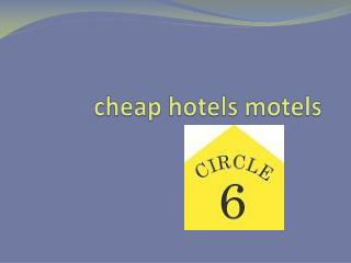 cheap hotel motel