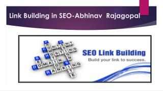 Link Building in SEO By Abhinav Rajagopal