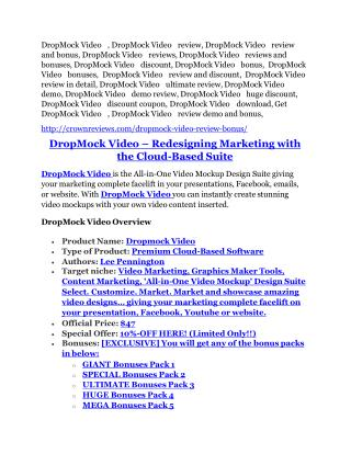 DropMock Video review-(MEGA) $23,500 bonus of DropMock Video