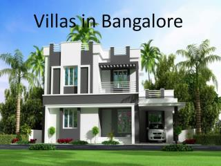 Villa Projects in Bangalore
