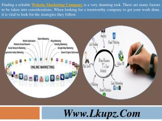 Website Marketing Company - Online Marketing