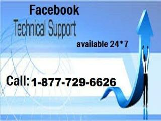 Quick services for Facebook Tech Support @ 1-877- 729-6626 toll-free
