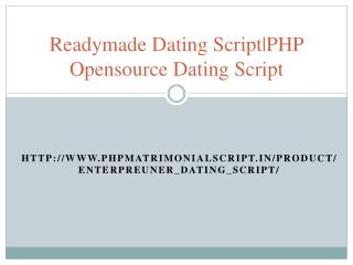 Readymade Dating Script|PHP Opensource Dating Script