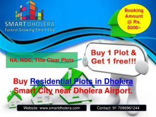 Residential plots for sale in Dholera SIR
