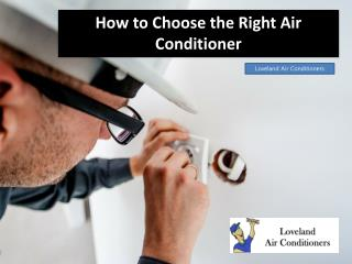 How to Choose the Right Air Conditioner