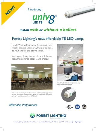 Univ8 T8 LED Lamp Install With or Without a Ballast
