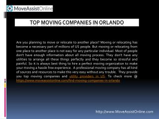 2016's Top Moving Companies in Orlando