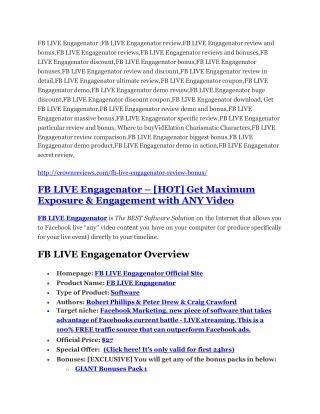 FB LIVE Engagenator Review demo - $22,700 bonus