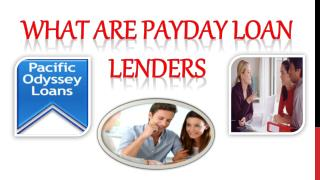 What are Payday Loan Lenders