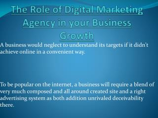 Important Role Of Digital Marketing Agency in your Business Growth