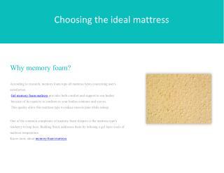 Choosing the Ideal Mattress