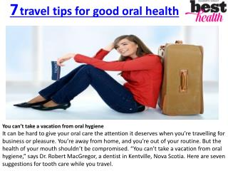 7 travel tips for good oral health