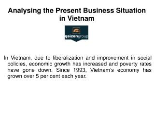 Analysing the Present Business Situation in Vietnam