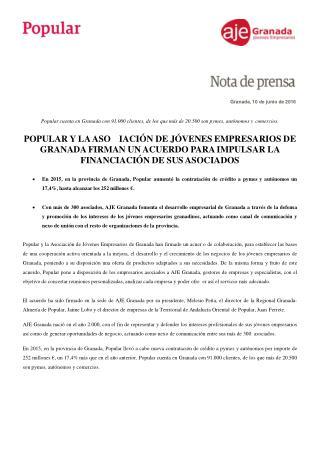 Ángel Ron y la Asociación de Jóvenes de Granada firman un acuerdo para impulsar la financiación de sus asociados