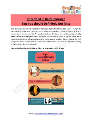 Belly dance classes Chandigarh