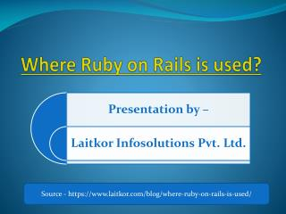 Where Ruby on Rails is used?