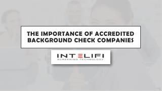 The Importance of Accredited Background Check Companies