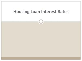 Housing Loan Interest Rates for Bad Credit!