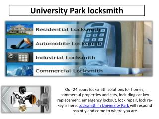 Locksmith University Park TX