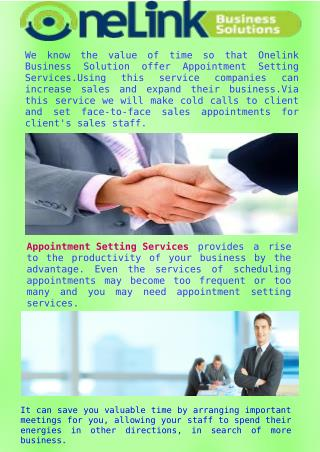 Effective Appointment Setting Services