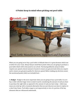 Pool Table Manufacturers | Pool Table Suppliers | Pool Table Exporters