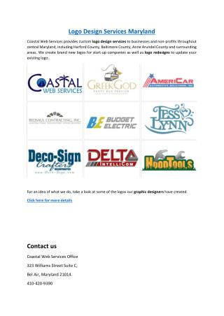 Logo Design Services Maryland