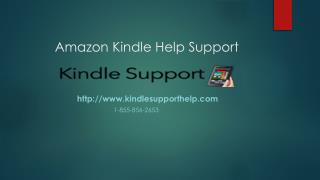 Kindle Support help Call @  1-855-856-2653