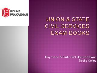 Union & State Civil Services Exam Books Online