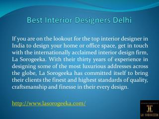 Best Interior Designers Delhi