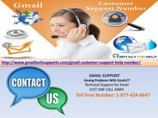 Gmail Customer Support Helpline Number 1-877-424-6647