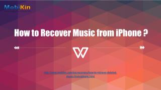 How to Recover Music from iPhone ?