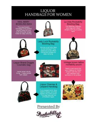 Rockabilly Purse & Pin Up Bowling Bags