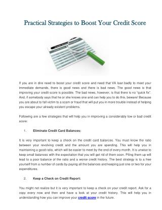 Practical Strategies to Boost Your Credit Score