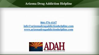 Arizona Drug Addiction Helpline