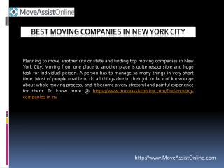 2016's Best Moving Companies in New York City
