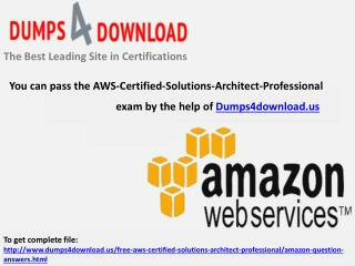 AWS-Certified-Solutions-Architect-Professional Pass4sure Dumps Question