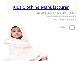 kids wear manufacturers