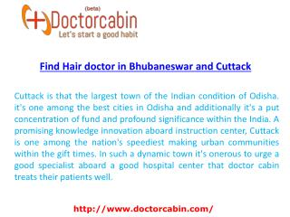 Find Hair doctor in Bhubaneswar and Cuttack